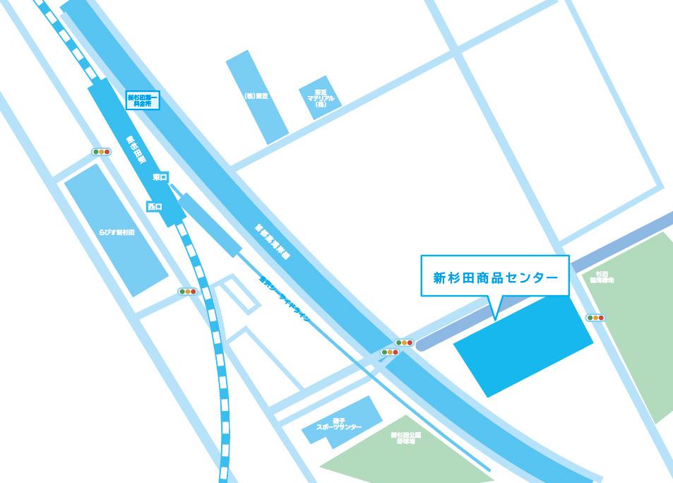 横浜・新杉田商品センター地図