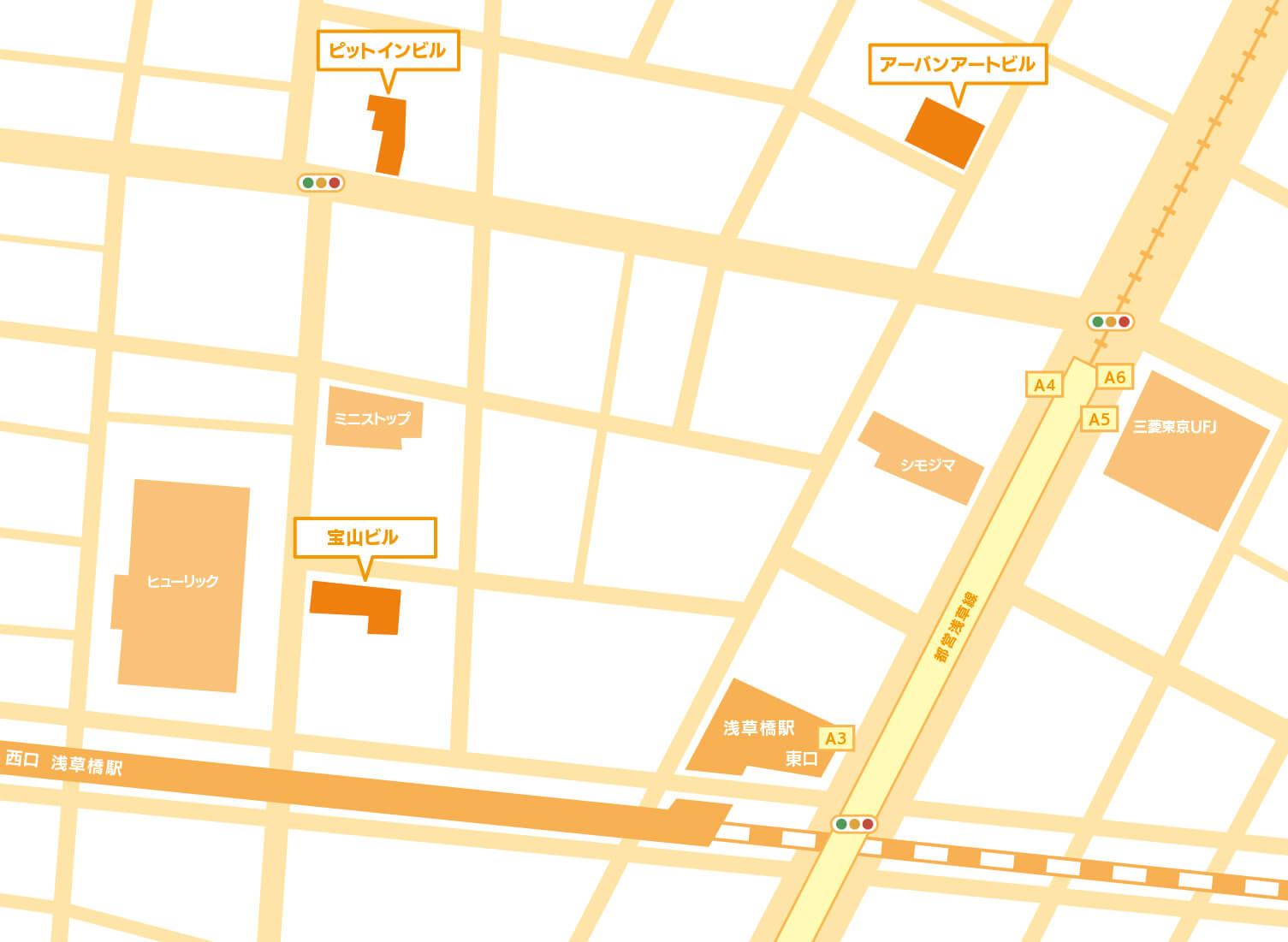 東京・浅草橋 本社周辺地図